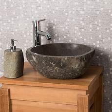 lave mains de wc 224 poser en galet de rivi 232 re naturel