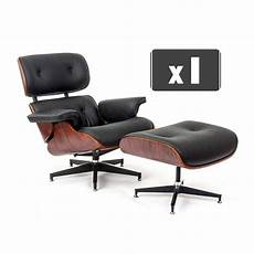 replica charles eames lounge chair ottoman in black