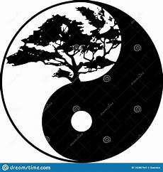 Malvorlagen Yin Yang Foto Albero Di Yin Yang Illustrazione Di Stock Illustrazione