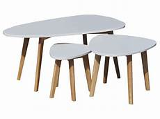 table basse gigogne conforama 3 tables basses gigognes dolmen vente de table basse
