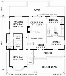 2br house plans the pelham house plan number 232 donald a gardner