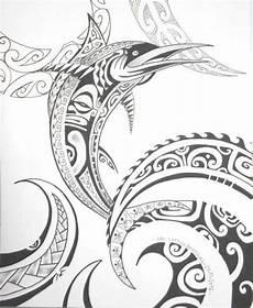 Maori Symbols Big Fish Waves Tattooed With Maori