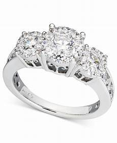 macy s diamond engagement ring and wedding band bridal in 14k white gold 2 ct t w in