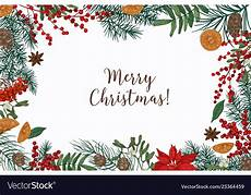 greeting card template with merry christmas vector image