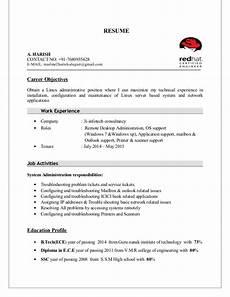 harish resume linux fresher