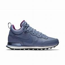 lyst nike internationalist mid leather s shoe in blue