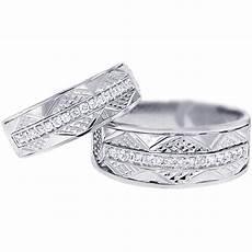 diamond vintage wedding bands for him 18k gold 0 33ct
