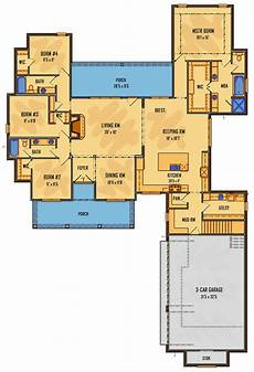 single story house plans with bonus room one story farmhouse house plan with bonus space