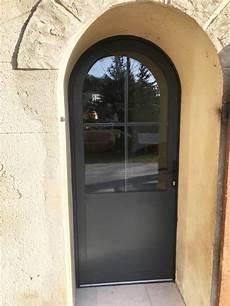 porte fen 234 tre en aluminium cintr 233 e avec vitrage anti