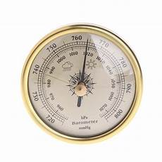 Gold Wall Hanging Weather Thermometer Barometer 72mm wall hanging barometer 1070hpa gold color