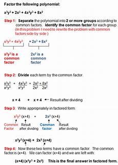 factoring in algebra polynomials