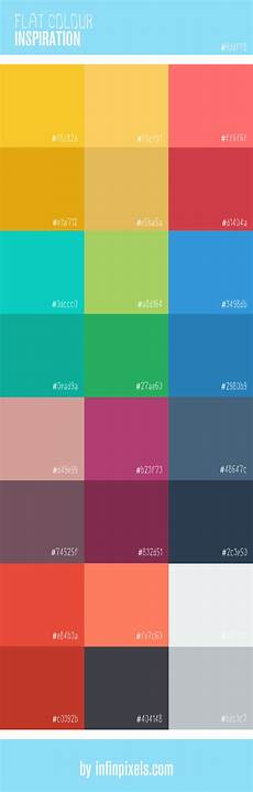 flat colour inspiration for web design infinpixels