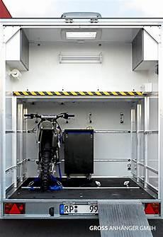 Garage Für Autoanhänger by Wohnanh 228 Nger Mit Ger 228 Umiger Heckgarage F 252 R 2 Motocross