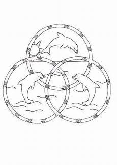 dibujos para colorear mandala hermosos delfines es