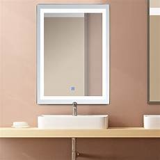 led illuminated light wall bathroom vanity mirror make up w touch button