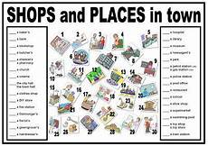 esl worksheets places in town 16001 the world s catalog of ideas