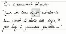 lettere italiane in corsivo linguaggio e scrittura febbraio 2012