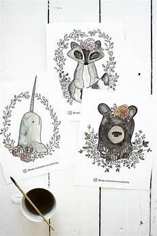 free watercolor coloring book printable sheets