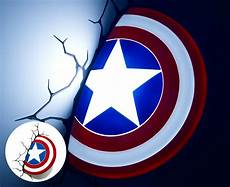 3d marvel captain america shield wall light white blue ebay
