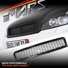 black rs honeycomb style front grille for audi a4 s4 b6 sedan avant mars performance