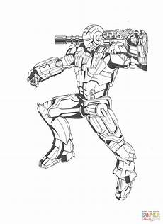 Superhelden Ausmalbilder Ironman Iron All Packed Up Coloring Page Free Printable