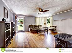 Living Room Interior In Old House Stock Image   Image of