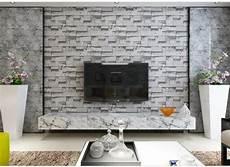 Salon Avec Papier Peint Imitation Et Effet Brique