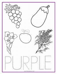 purple color activity sheet with images color activities preschool colors preschool color