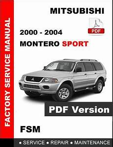 free car repair manuals 2001 mitsubishi montero sport seat position control 2000 2001 2002 2003 2004 mitsubishi montero sport factory service repair manual 112691737960
