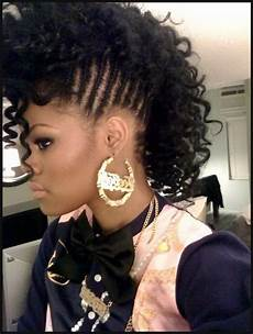 curly mohawk hairstyles for black