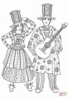 at the mardi gras carnival in new orleans coloring page