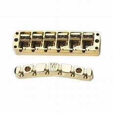 6 string bass bridge warwick gold 6 string bass bridge in solid brass part spw301366g