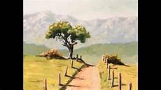 Malen Mit Acryl Baum Bergpanorama Teil 2 2