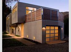 Modern Home Exterior with Warm Lighting   Modern