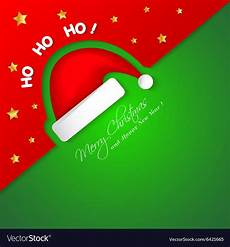 merry christmas card with santa hat royalty free vector