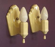 vintage yellow porcelain wall sconces vintage yellow yellow bathroom accessories sconces