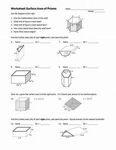 41 volume of prisms and cylinders worksheet surface area of cylinders artgumbo org