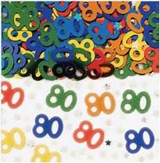 konfetti 80 geburtstag tischdeko streukonfetti deko