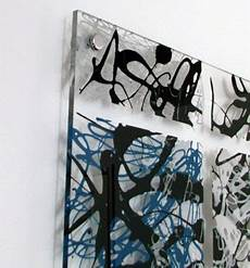 acrylic drip art painting pollock inspired blue and white paintingthe drip artist