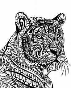 tiger printable mandala to print or for free