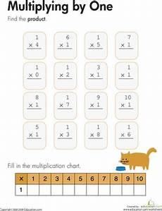 multiplication worksheets for grade 1 with pictures 4909 multiplying by one worksheet education