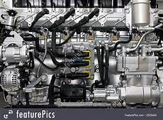 Mechanical Objects Common Rail Diesel Stock Image