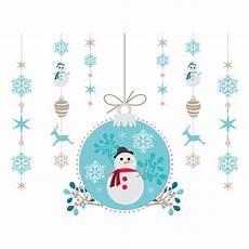 kit boule à neige stickers kit boule suspension no 235 l et bonhomme de neige