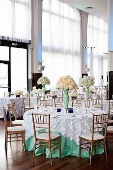 mint green and gold wedding with mint and cobalt