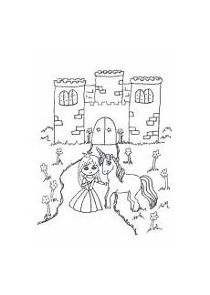 gratis malvorlagen prinzessin schloss coloring and
