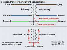 isolation transformer current connection knowledge in