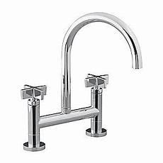 kallista kitchen faucets kitchen faucet kallista one tm deck mounted bridge kitchen faucet cross handles p25202 cr