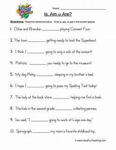 is am are fill in blank worksheet have fun teaching