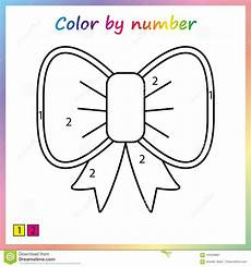 color by number pages worksheet 16276 worksheet for education painting page color by numbers for preschool stock vector