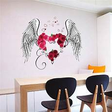 wedding wall sticker love heart rose flowers